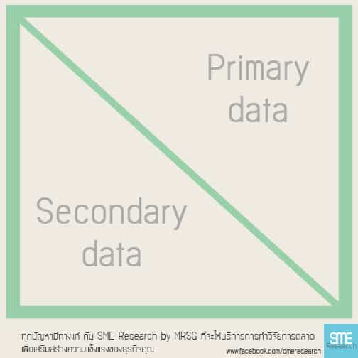 Primary data และ Secondary data